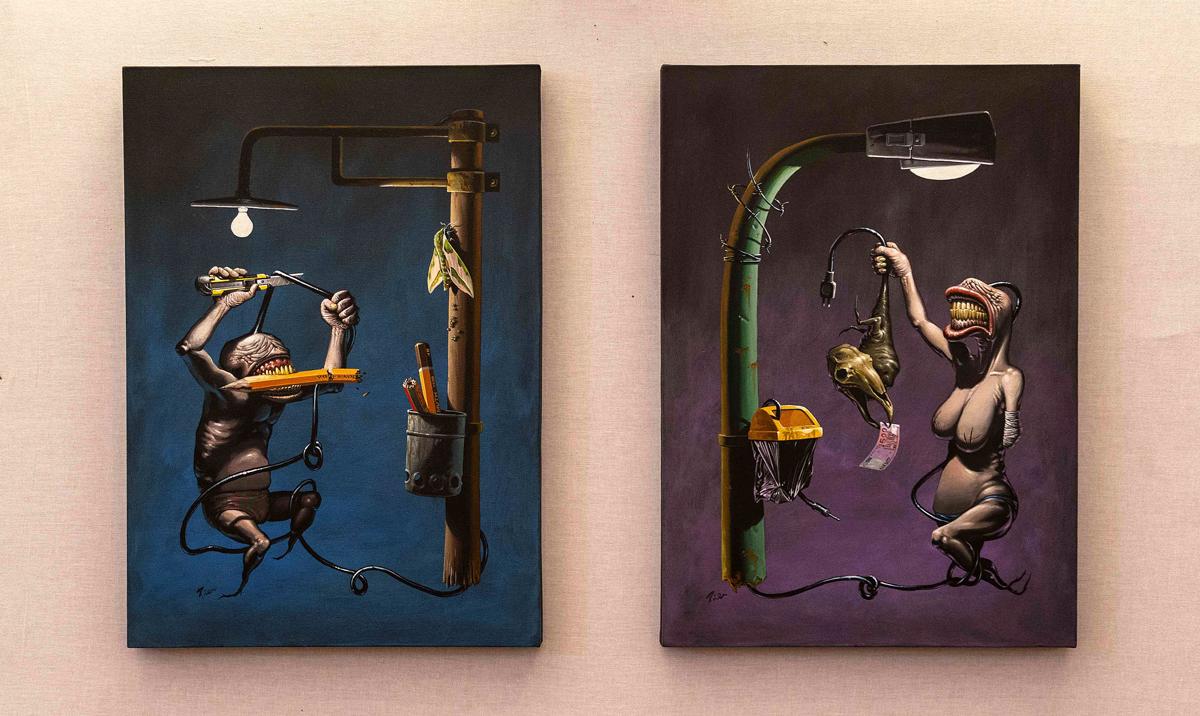 """associazione_asteras, Piercarlo Carella, """"Melàn Cholé"""" - """"Furor Melancholicus I"""", 2006"""